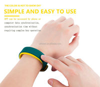 Unique ID sport smart bracelet Team competition led silicone vibration wrist watch
