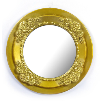 18 Inch 45cm Round Shape Bronze Wall Mounted Wood Mdf Frame Mirror Decorative For Living Room Buy Decorative Wall Mirror Wall Decor Gold Wall Mirror