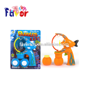 fish shape easy play bubble gun with large size bubble , music and flash light