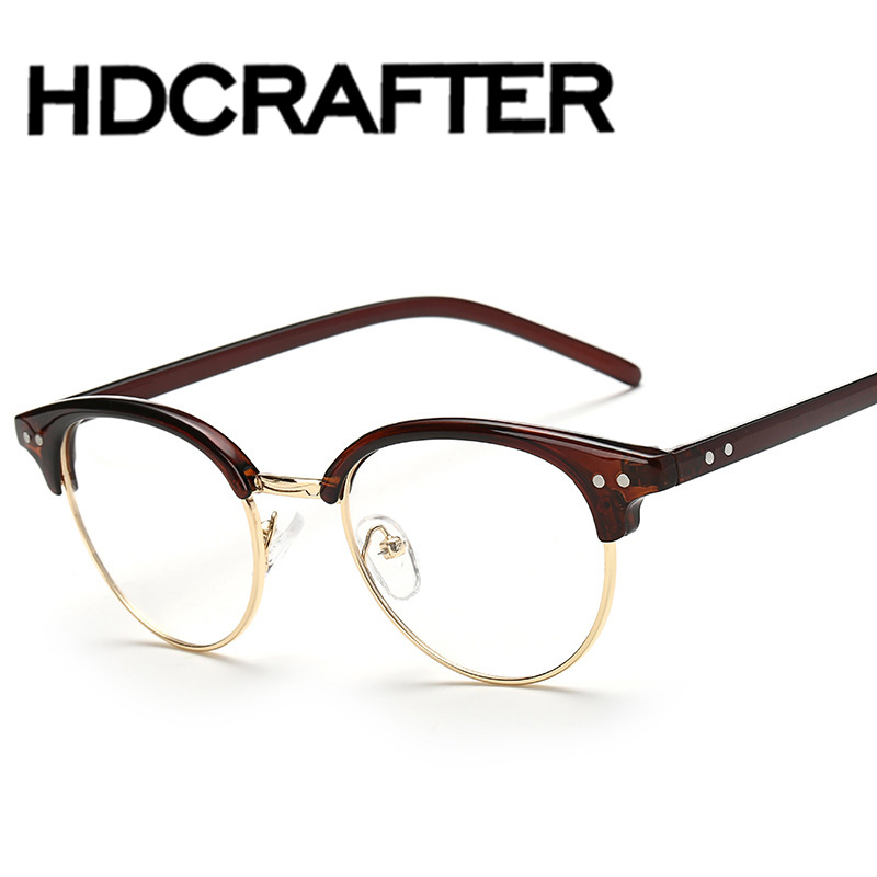 Moda óptica gafas marco para hombres mujeres gafas con vidrio ...