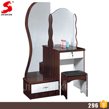 Bedroom Furniture Modern Fashionable Wooden Dressing Table With Mirror And Stool