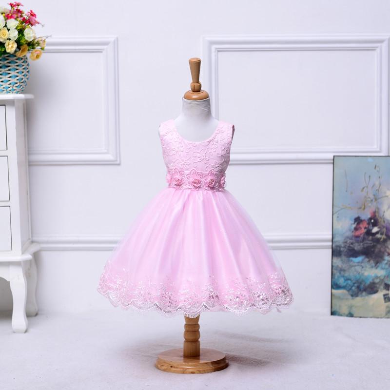 Última moda adorable niña dreess boda encaje vestido de niña de ...