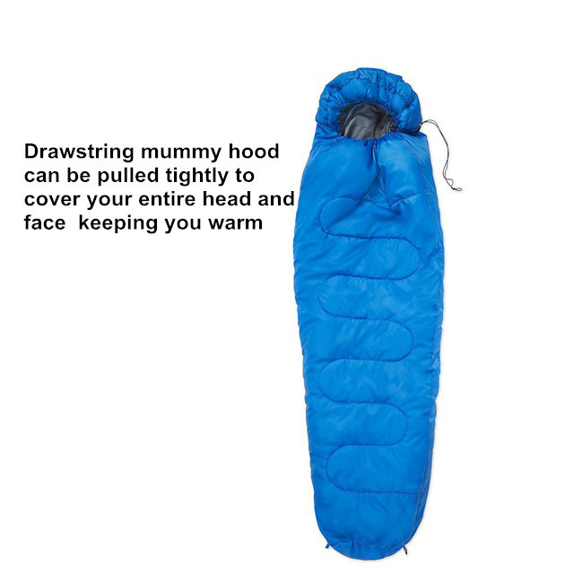 Outdoor Mummy Camping Sleeping Bag With Waterpoof Ripstop Fabric