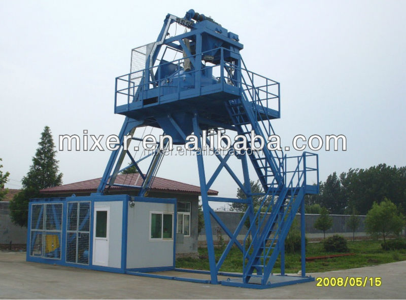 40M3/H foam concrete mobile batching plant