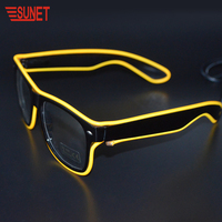 Wholesale new idea small best selling EL LED eye sunglasses festivals for 2019