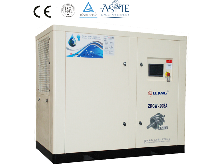 15kw 20hp oil free water lubrication compressor air cooling