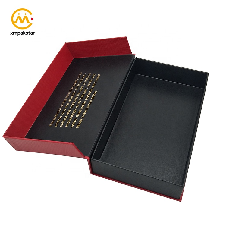 Wholesale custom logo printed red cardboard paper sugar packaging box with plastic divider