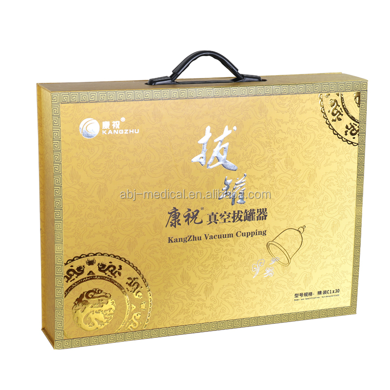 high quality chinese vacuum cups therapy machine kangzhu cupping kits for gift
