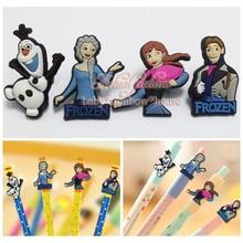 4pcs Elsa Anna  Pen Decoration Pencil Cap School office supply Pen Topper  Lovely toys for student kid Christmas gift