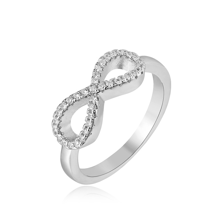 China 925 silver cz wholesale price iced out rings for girl