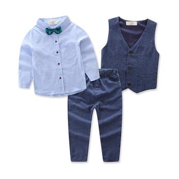 b5062cc23 Autumn And Spring Gentlemen Set Children Clothing Suit Baby Boy Suit ...
