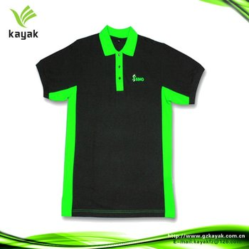 Sharp Green And Black Promotion Polo Shirt - Buy Green And Black ... 29e0d84eb435