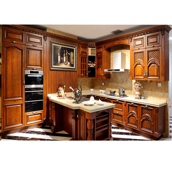 2017 New Products Simple Wood Kitchen Cabinet Solid Pantry Cupboard Photos