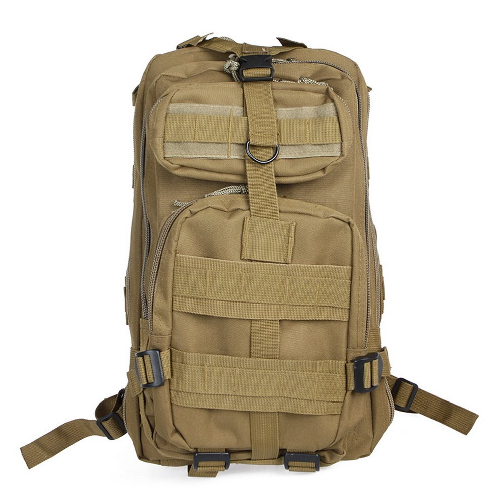 Neewer® 30L 3P Comfortable Waterproof Assault Pack Tactical Backpack Molle Bag 600D Nylon (Tan)