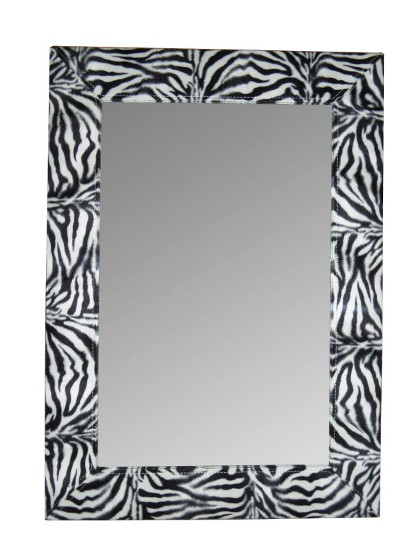 Decorative Zebra Wall Framed Mirror
