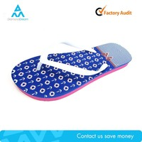 Summer manufacture factory cheap blue indoor rainbow stock flip flop