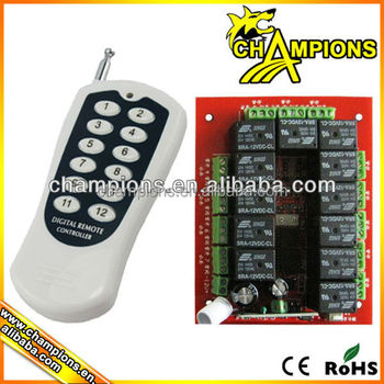 Wireless Multi Channel Long Distance Transmitter And Receiver Wireless  Relay Rf Remote Control Switch Ag-c1201 - Buy Am/fm Transmitter And