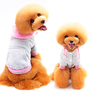 New Pet Cotton Color Matching Hoodie Sports Dog Sweater