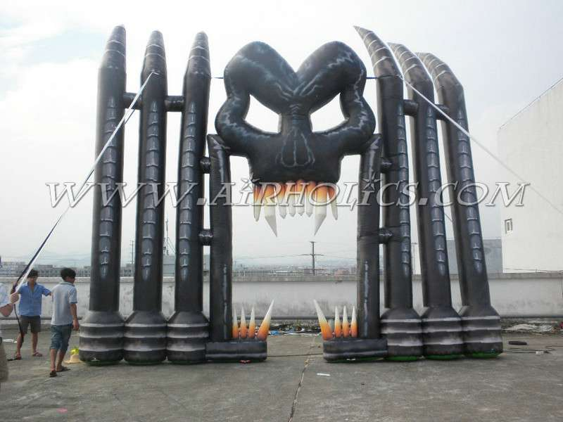 Custom inflatable Halloween festival archway inflatable arch for advertising H1024
