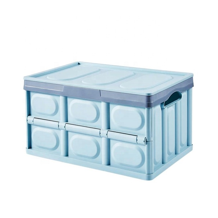 Logistics transfer tote heavy duty collapsible plastic crates straight wall stackable storage bin crate container