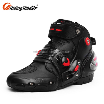 Top Quality White Mens Sportbike Racing Riding Short Bike Footwear Motorcycle Boots