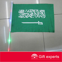 Very popular led flag with flashing light poles