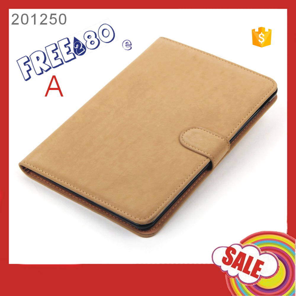 2016 Shenzhen factory card holder Squirrel Grain Tablet pc case PU leather for ipad mini 4