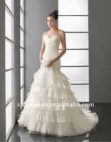 New Arrival Fashion Elegant Puff Layered Ruffled Skirt Sweetheart With Jacket Wedding Dresses Wedding Gown 2012 AIW-121
