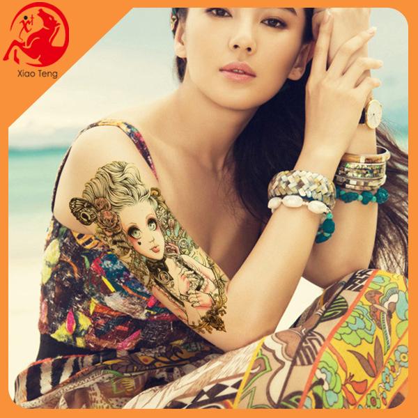 Hot arm tattoo sticker eco friendly temporary tattoos for for Custom temporary tattoos no minimum