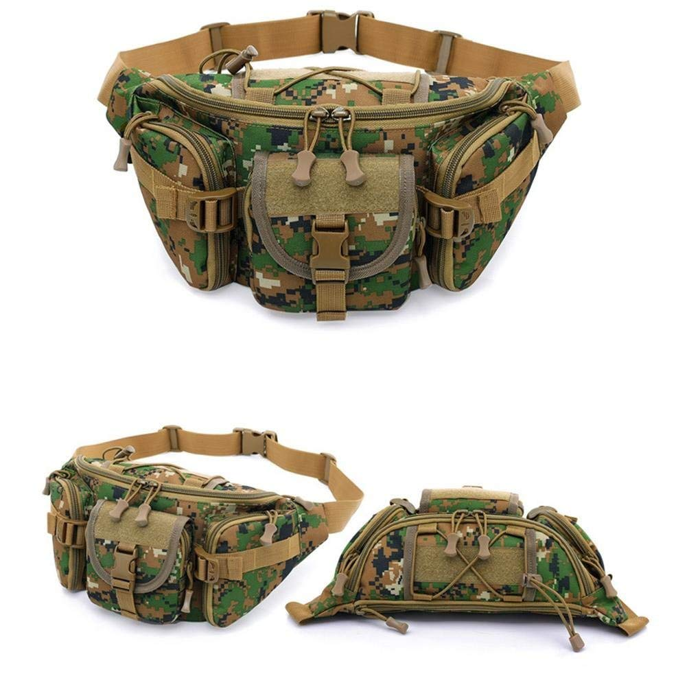 Outdoor Tactical Waist Bag - Military Tactical Waist Bag - Hunting Multifunctional Tactical Running Multi-Purpose Bag Vest Waist Pouch Utility Pack - Jungle (Multifunctional Running Waist Bag)