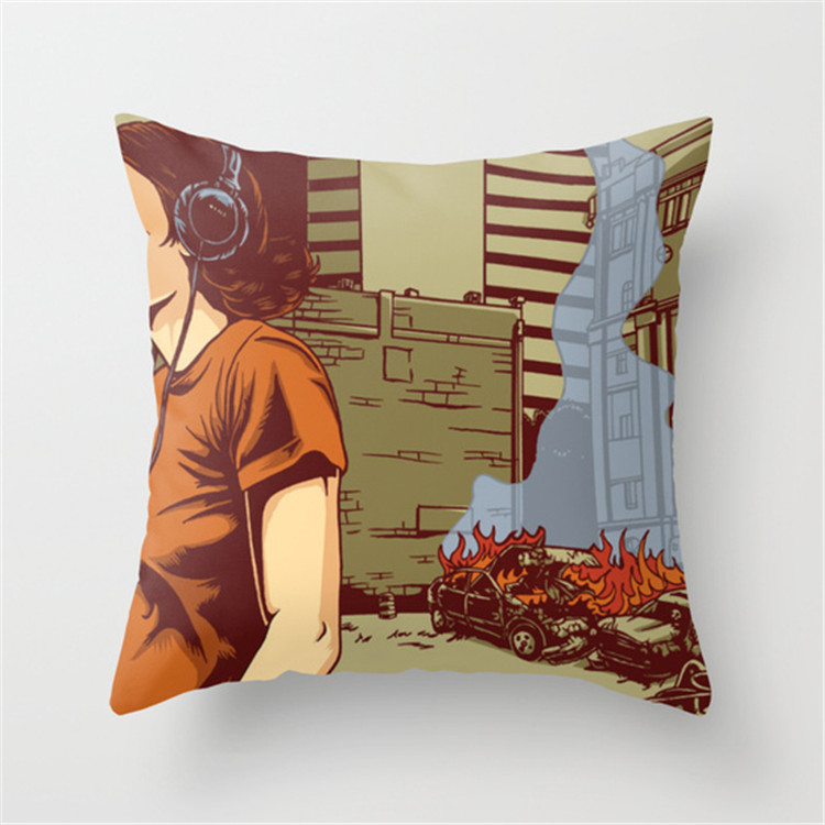 Ginzeal Fashion Eco-Friendly Printed Pillow Case Cover