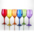 Machine made laser colored wine glass with good price