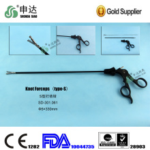 Chinese Best Medical Instruments High Technical Products Laparoscopic Instruments Knot Foceps Type S Tie Pliers