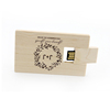 Creative Sincere Gifts Swivel Wood USB Flash Driver 16GB