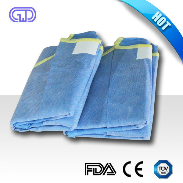 Low Price Surgical Gown Sewing Machine.cpe Surgical Gown.disposable ...