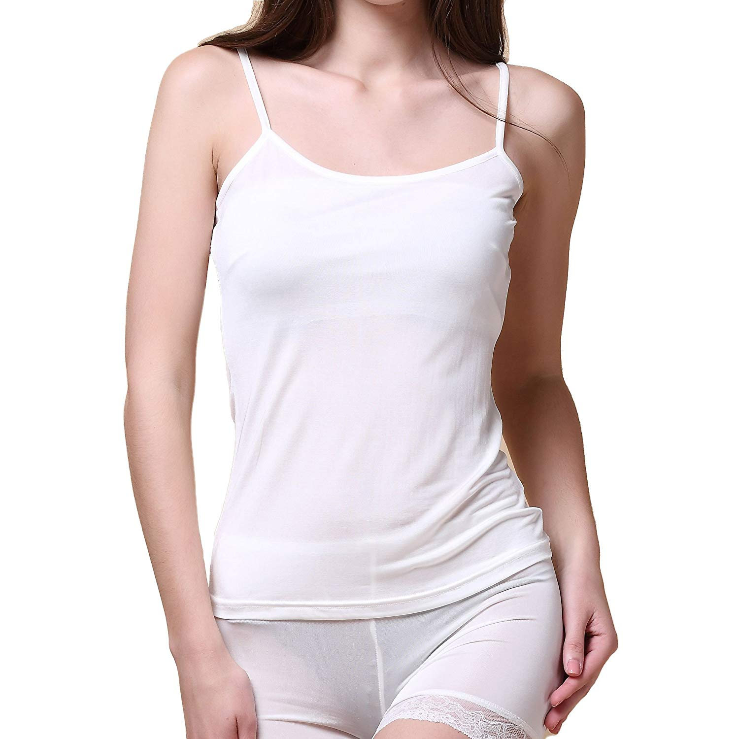 58d8659fdf4bd0 Get Quotations · Paradise Silk Pure Silk Knitted Women s Camisole Tank Top