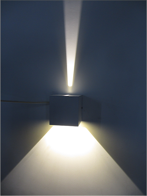 cube adjustable surface mounted wall lamp for hotel led