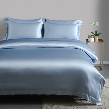 Taihu Snow Luxury Silk Satin Bedding Pure Mulberry Silk Duvet Cover Set, Silk Sheets, Oeko-Tex Qualified