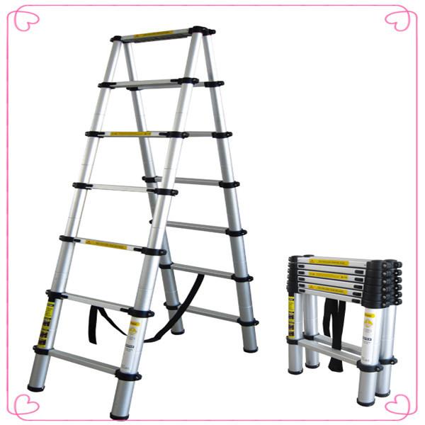 Small Telescoping Ladder : Aluminum folding ladder telescopic lightweight ladders