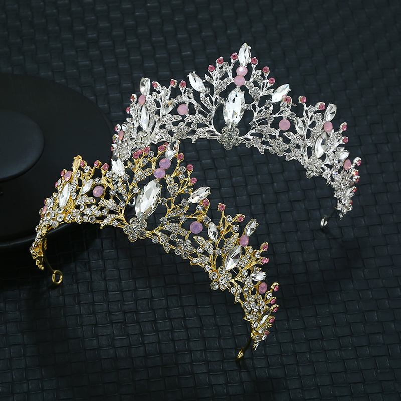 Popular Headpieces Zinc Alloy Crystal Hair Cown Wedding Accessories