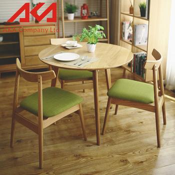 simple mesa redonda de madera maciza mesas y sillas mesa de la cafetera para el hogar