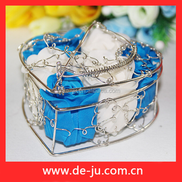Wire Basket For Rose Flowers Indian Wedding Return Gift Ideas ...
