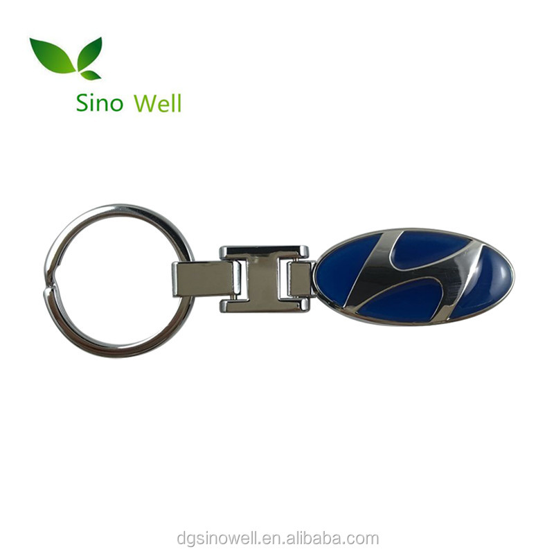 Kualitas Tinggi Souvenir Hadiah Mobil Logo Polos Logam Kunci Cincin