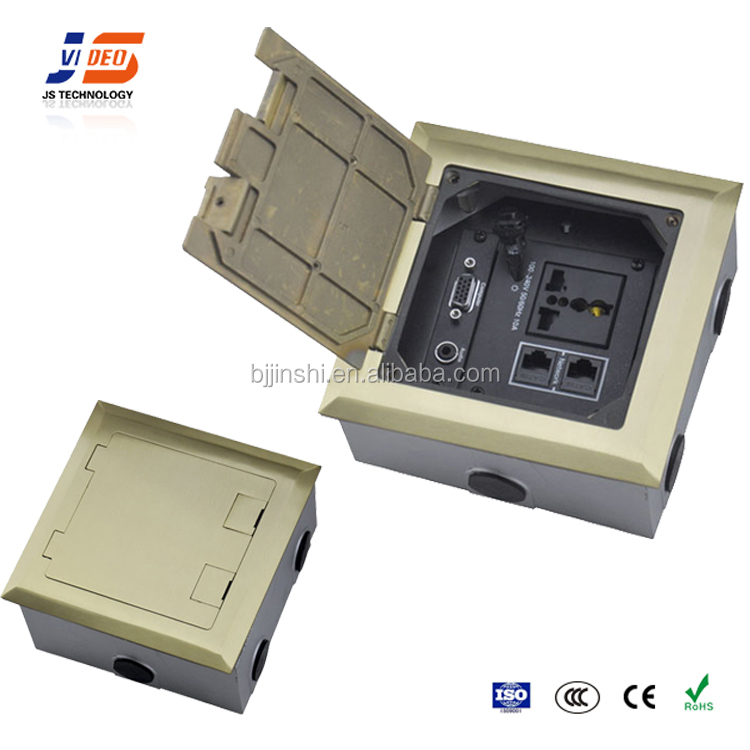JS-DC146 manual open-up Ground Socket various port modules for option