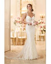 Vestidos de Novia Ivory Open Back Lace Wedding Dresses Vintage Bridal Dresses Robe de mariage 2016 Sexy Backless Wedding Gown