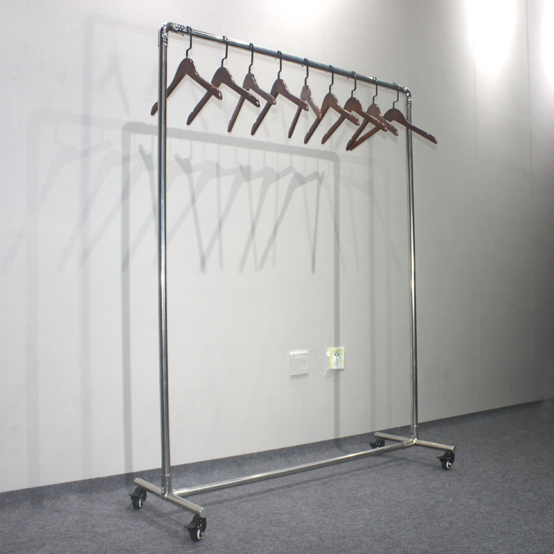 huohua stainless steel tube single pole vertical clothes hanger rack