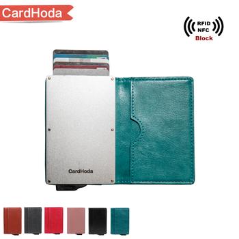 Aluminum Business Credit Push Button Card Holder Buy Push Button