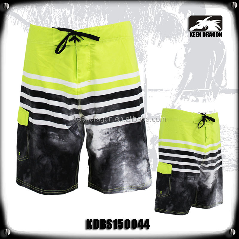 OEM apparel 100% polyester printed cheap mens swim trunks
