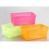 colorful plastic rectangular storage basket