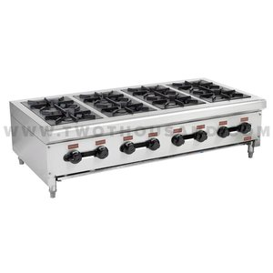 TT-WE1210 8 Burners Commercial Tabletop Lpg Gas Cooking Hot Plate Stove